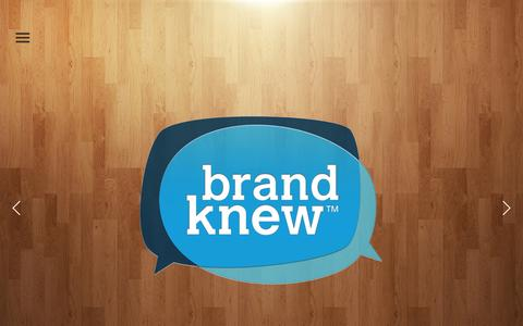 Screenshot of Home Page brand-knew.com - Brand Knew is a creative agency and technology studio. - captured Oct. 1, 2014