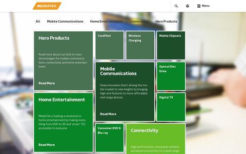 Screenshot of Products Page mediatek.com - Products - MediaTek - captured July 18, 2014