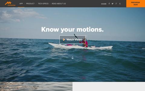Screenshot of Home Page motionize-inc.com - Motionize - captured Dec. 6, 2015