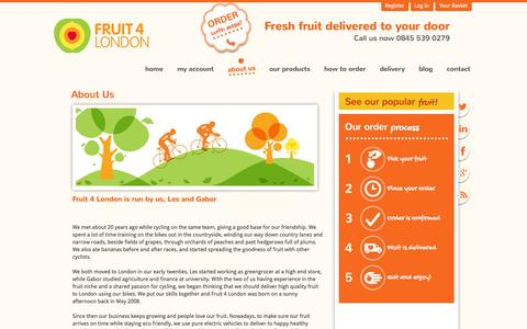 Screenshot of About Page fruit4london.co.uk - About us   Fruit4London - captured Nov. 25, 2016