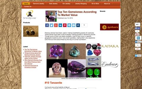 Screenshot of Blog jewelslane.com - Online Jewelry Shopping - Tips to Shop Indian Jewellery, Om Jewellery - captured Nov. 4, 2014