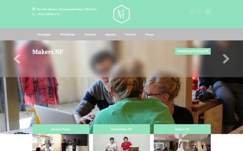 Screenshot of Home Page nouvellefabrique.fr - Nouvelle Fabrique - captured Oct. 7, 2014