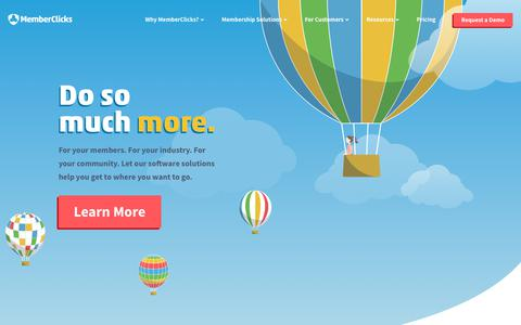 Screenshot of Home Page memberclicks.com - MemberClicks | All-In-One Membership Management Software - captured July 23, 2019