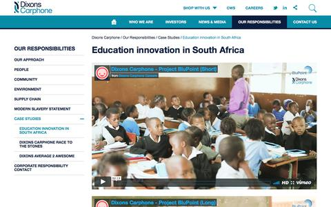 Screenshot of Case Studies Page dixonsretail.com - Education innovation in South Africa | Dixons Carphone - captured June 3, 2017