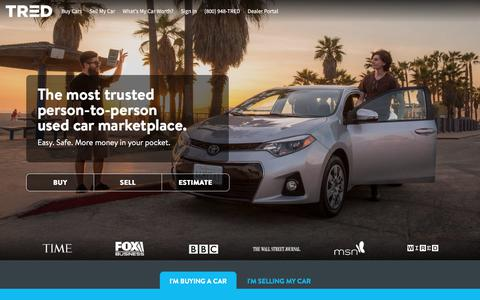 Screenshot of Home Page tred.com - Where Trusted Car Buyers and Sellers Connect | TRED - captured June 9, 2018