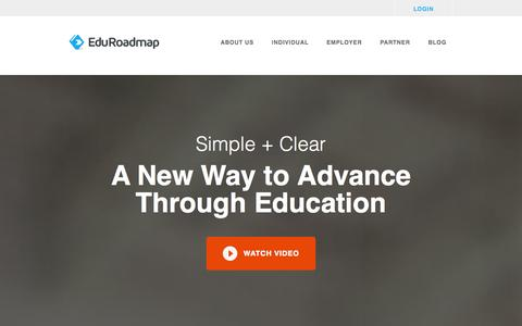 Screenshot of Home Page eduroadmap.com - EduRoadmap - captured Sept. 29, 2014