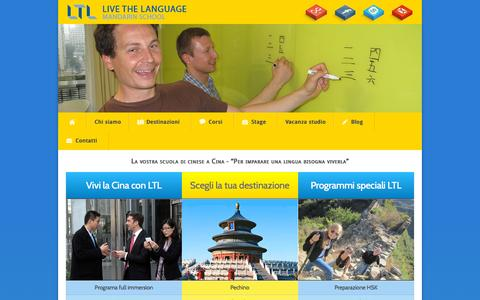 Screenshot of Home Page ltl-cinese.it - Imparare il cinese in Cina - LTL Scuola di cinese in Cina - captured Sept. 19, 2015