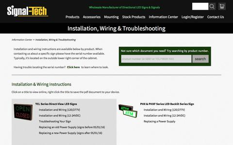Installation, Wiring & Troubleshooting | Signal-Tech