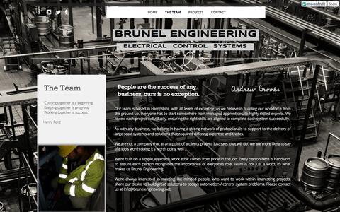 Screenshot of Team Page moonfruit.com - THE TEAM - BrunelEngineering - captured Sept. 16, 2014