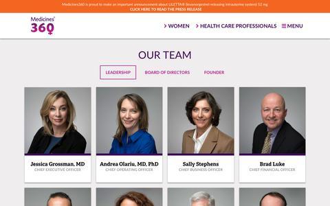 Screenshot of Team Page medicines360.org - Leadership – Medicines360 - captured Nov. 6, 2018