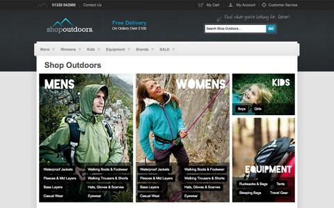 Screenshot of Home Page shop-outdoors.co.uk - Outdoor Clothing | Walking Boots | Waterproof Jackets | Shop Outdoors - captured Oct. 7, 2014