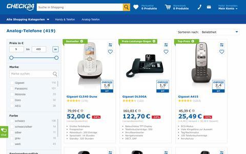 Analog-Telefon günstig im CHECK24-Preisvergleich