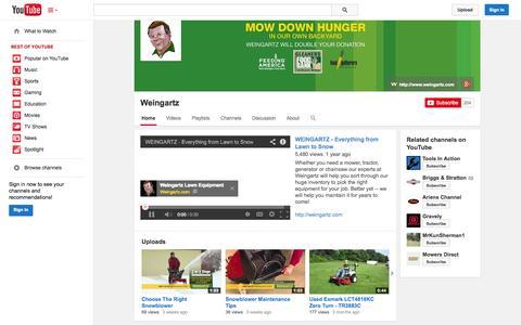 Screenshot of YouTube Page youtube.com - Weingartz  - YouTube - captured Oct. 29, 2014