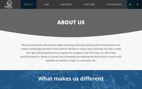 Screenshot of About Page cloudbrain.com - About Us - TDF Ventures - captured July 18, 2018
