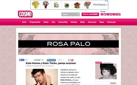 Screenshot of Blog cosmopolitantv.es - Todo lo relacionado con el mundo Cosmopolitan TV. Moda, - captured Sept. 19, 2014