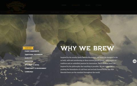 Screenshot of About Page sierranevada.com - Why We Brew | www.sierranevada.com - captured July 8, 2017