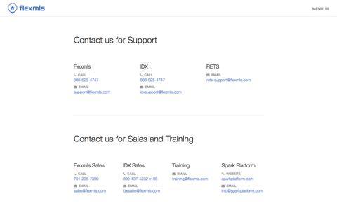 Screenshot of Contact Page flexmls.com - Contact Us   Flexmls - captured Nov. 24, 2015