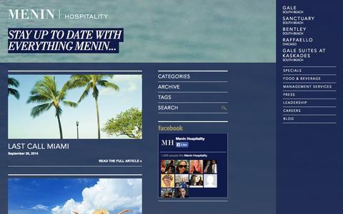 Screenshot of Blog meninhospitality.com - Blog | MENIN Hospitality - captured Oct. 27, 2014