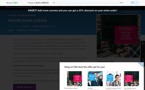 Online Exam License | Exam License