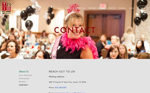 Screenshot of Contact Page texaswomeninbusiness.org - Contact — Texas Women in Business - captured Oct. 23, 2017