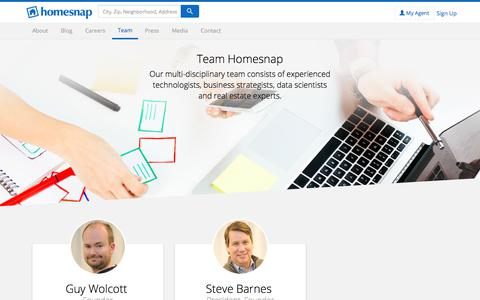 Screenshot of Team Page homesnap.com - Team Homesnap - Homesnap - captured Sept. 15, 2017