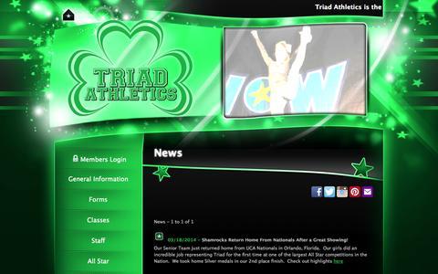Screenshot of Press Page triadathletics.com - Triad Athletics - News - captured Oct. 7, 2014