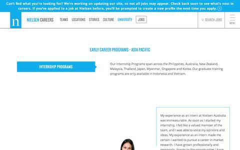 Early Career Programs - Asia Pacific | Nielsen Careers