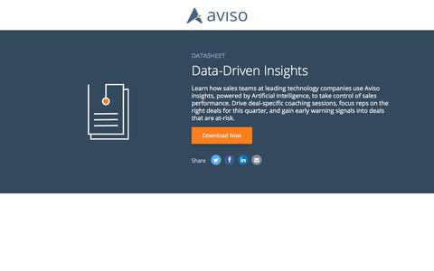 Data-Driven Insights | Aviso