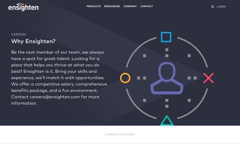 Screenshot of Jobs Page ensighten.com - Careers - Ensighten - captured June 14, 2019