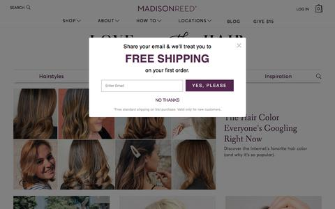 Screenshot of Blog madison-reed.com - Love is in the Hair - A Hair Blog From Madison Reed - captured July 25, 2019