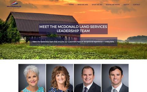 Screenshot of Team Page mcdls.com - Meet the McDonald Land Services Leadership Team — McDonald Land Services - captured Oct. 18, 2017
