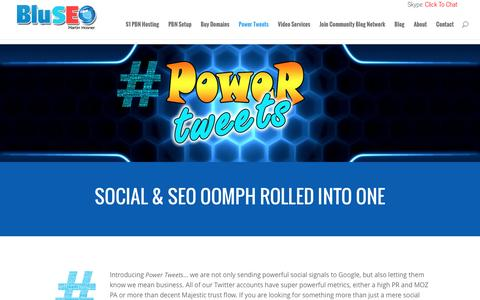 Screenshot of Signup Page bluseo.net - Power Tweets | Social & SEO Oomph In One - captured Sept. 7, 2016