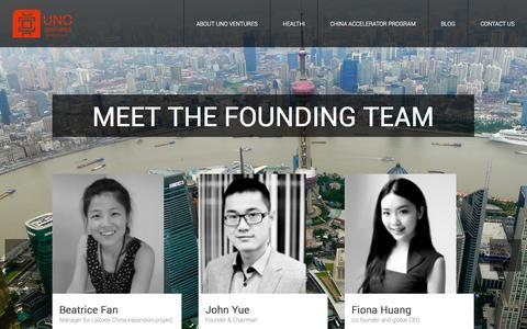 Screenshot of Team Page unostartups.com - UNOStartups : Team - captured Nov. 5, 2014