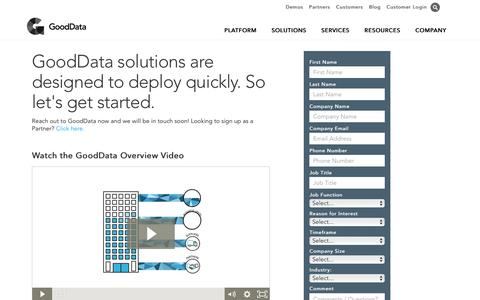 Full-Scale SaaS Business Intelligence Provider | GoodData