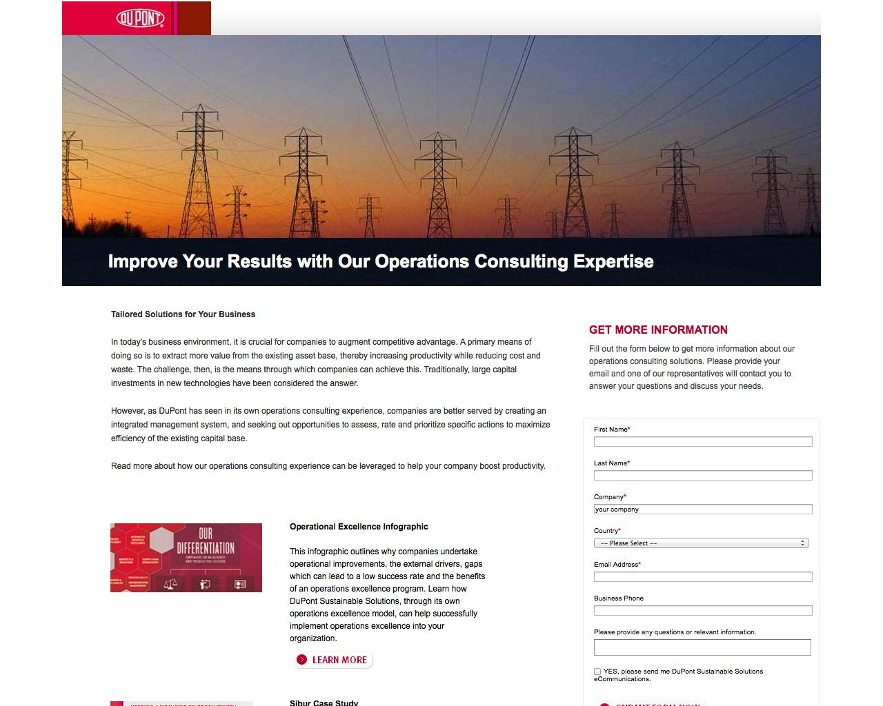 Screenshot of dupont.com - Operations Consulting | DuPont Operations Consulting - captured Oct. 27, 2014