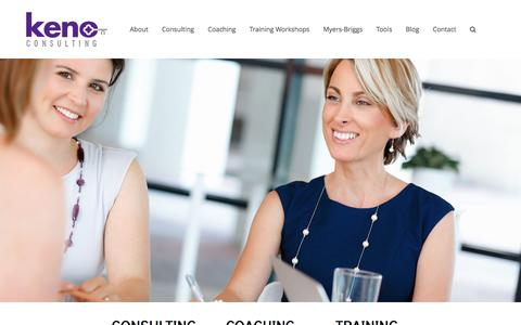 Screenshot of Home Page kenoconsulting.com - Keno Consulting - Coaching, Training, Consulting inChicago - captured Feb. 12, 2016