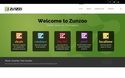 Screenshot of Home Page zunzoo.com - Zunzoo - captured Oct. 7, 2014