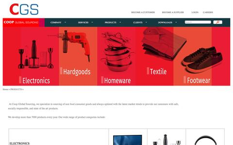 Screenshot of Products Page intercoop.com - PRODUCTS_CGS - captured Oct. 8, 2016