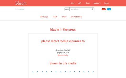 Bluum - press