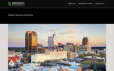 Screenshot of Blog propertyresourcesofraleigh.com - Property Resources of Raleigh |   Property Resources Newsletter - captured Nov. 14, 2016