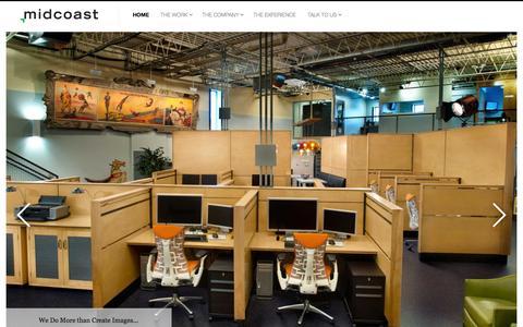 Screenshot of Home Page midcoaststudio.com - Midcoast   CGI Studio   3D Studio   Commercial Photography   Post Production - captured Jan. 29, 2015
