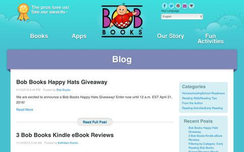 Screenshot of Blog bobbooks.com - Blog - captured June 29, 2017