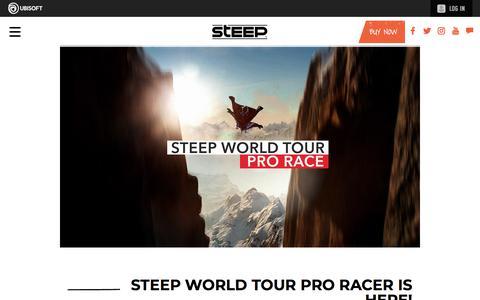 Screenshot of Press Page ubisoft.com - Steep World Tour Pro Racer is here! | Steep Game News & Updates | Ubisoft (CA) - captured Nov. 8, 2019
