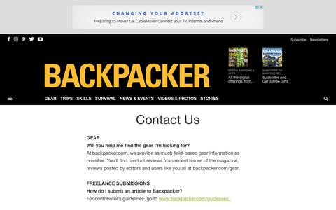 Contact Us - Backpacker
