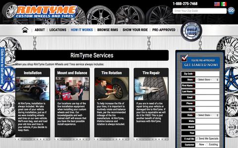 Screenshot of Services Page rimtyme.com - RimTyme Services - RimTyme - captured Feb. 28, 2016
