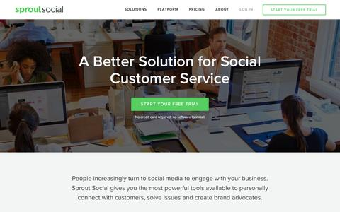 Screenshot of Support Page sproutsocial.com - Social Customer Service | Sprout Social - captured Sept. 9, 2016