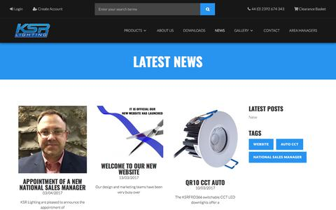 Screenshot of Press Page ksrlighting.com captured June 9, 2017