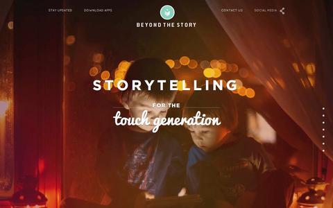 Screenshot of Home Page beyondthestory.com - Beyond the Story - captured Jan. 26, 2015