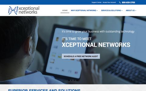 Screenshot of Home Page xceptionalnetworks.com - VoIP Phone Systems, Wireless Network Services, IT Consulting - San Diego   Xceptional Networks - captured Oct. 6, 2014