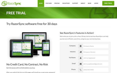 RazorSync Software Free Trial: No Credit Card Needed